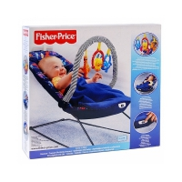 Детское массажное кресло с одеялом которое фиксируется Fisher Price (Н5126)