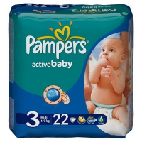 Подгузники Pampers Active Baby Midi 4-9 кг, 22 шт. (1674)