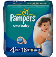 Подгузники Pampers Active Baby Maxi Plus 9-16 кг, 18 шт. (2886)