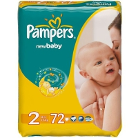 Подгузники Pampers New Baby Mini 3-6 кг, 72 шт. (81395057)