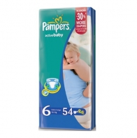 Подгузники Pampers Active Baby 6 Extra Large 16+кг, 54 шт. (4875)