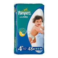 Подгузники Pampers Active Baby Maxi Plus 9-20 кг, 48 шт. (6894)
