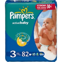 Подгузники Pampers Active Baby Midi 3 4-9 кг, 82 шт. (5085)
