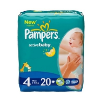 Подгузники Pampers Active Baby Maxi 7-14 кг, 20 шт. (2527)