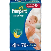Подгузники Pampers Active Baby Maxi 7-18 кг, 70 шт. (4769)