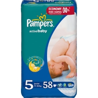 Подгузники Pampers Active Baby Junior 11-18 кг, 58 шт. (4811)