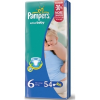 Подгузники Pampers Active Baby Extra Large 16+ кг, 54 шт. (81395115)