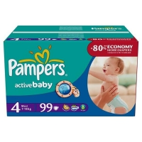 Подгузники Pampers Active Baby Maxi 7-18 кг, 99 шт. (81395082)