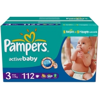 Подгузники Pampers Active Baby Midi 4-9 кг, 112 шт. (81395064)